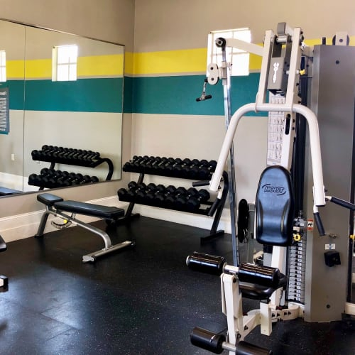 View virtual tour of the fitness center at The Avenue in Ocoee, Florida
