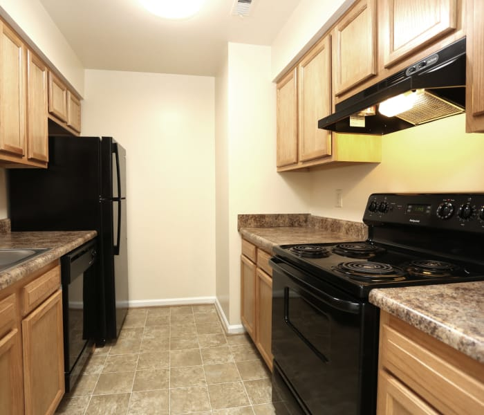 Kitchen at Willow Oaks Apartments in Chesapeake, Virginia