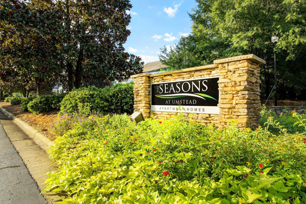 Monument sign at The Seasons at Umstead in Raleigh, North Carolina