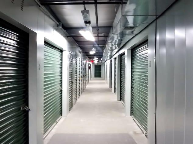 Indoor storage units at Prime Storage in Centereach, New York