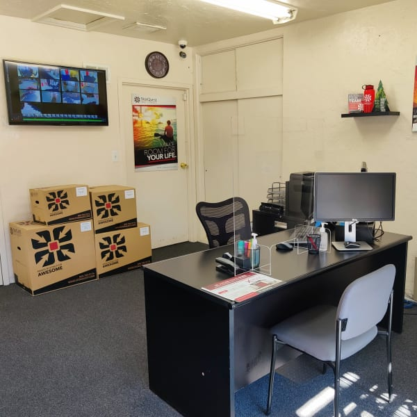 Interior of the office at StorQuest Self Storage in Claremont, California