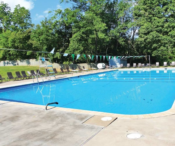 Swimming pool at Waterview Apartments in West Chester, Pennsylvania