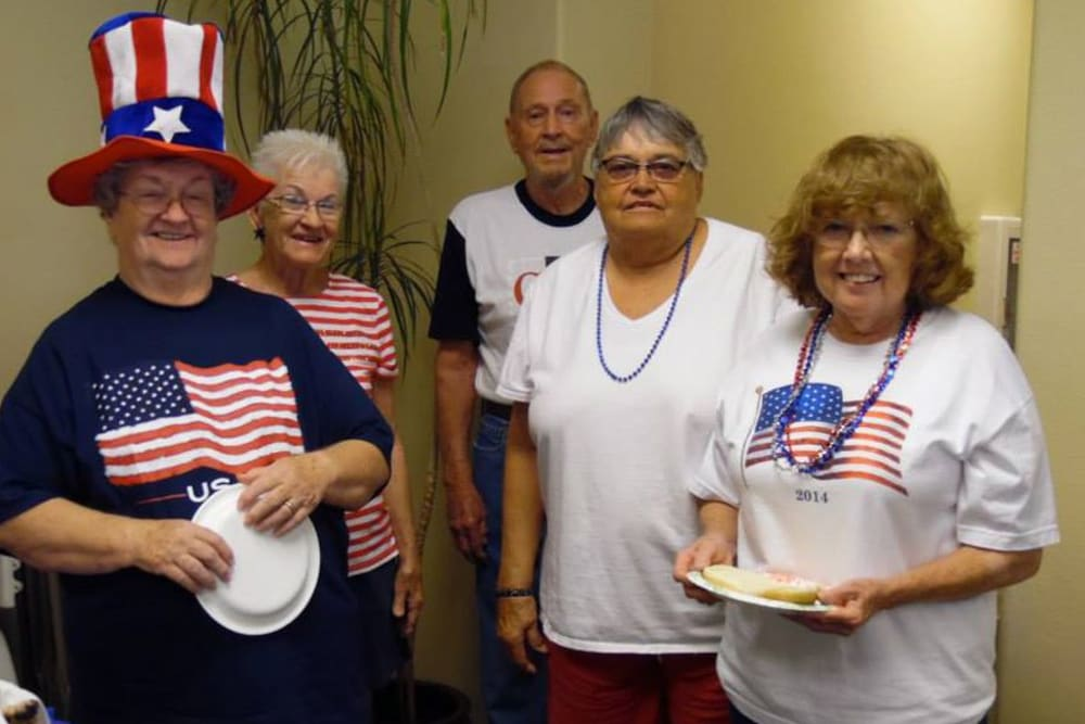 Fourth of July fun at Castle Vista Senior Duplex Community in Atwater, California