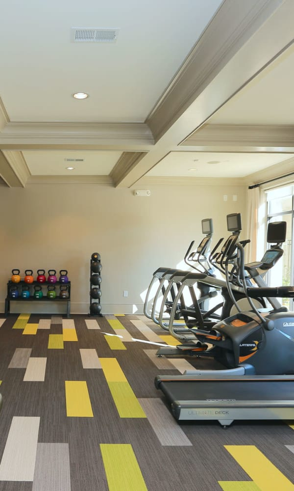 Full sized state of the art fitness center at 2370 Main at Sugarloaf in Duluth, Georgia