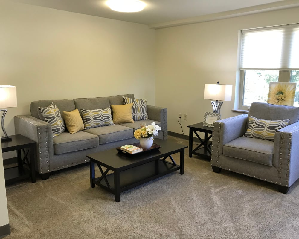 Spacious and bright floor plans at Prairie Hills Senior Living in Cedar Rapids, Iowa.