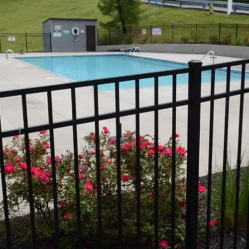 Swimming pool with expansive sundeck at Lakeside Landing Apartments in Lakeside Park, Kentucky