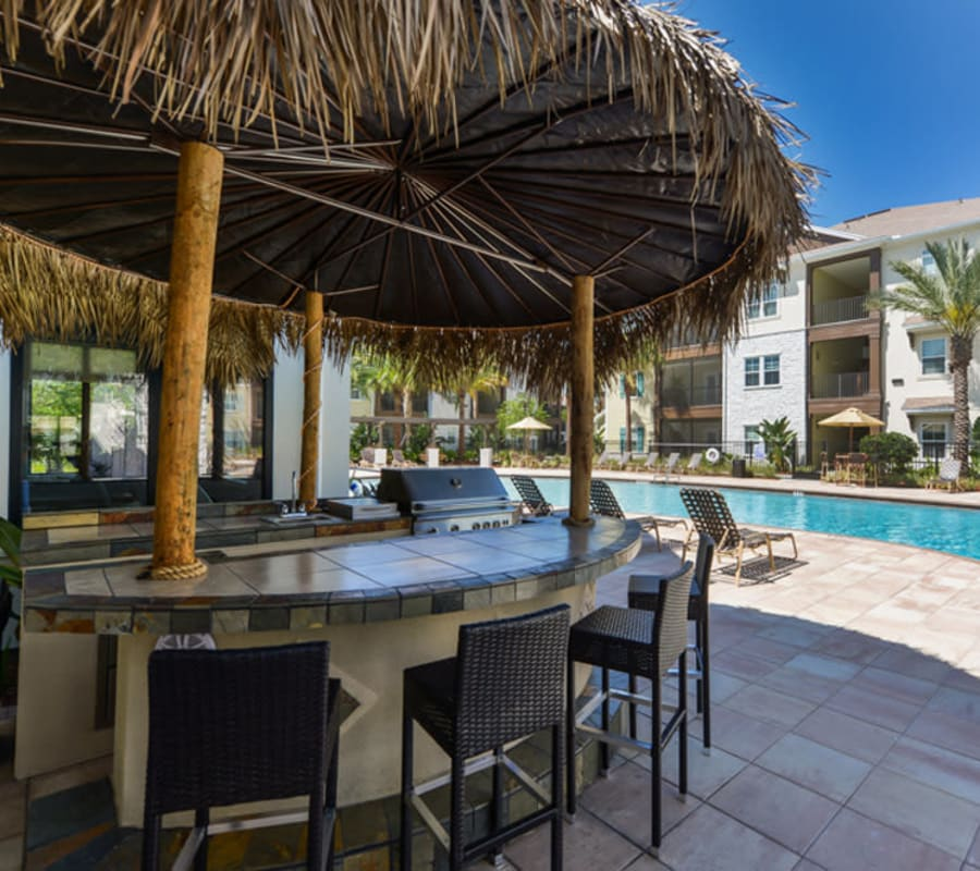 Grill area by the pool at Cabana Club and Galleria Club in Jacksonville, Florida