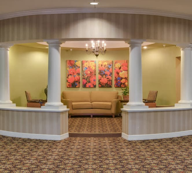 A large lobby area at Town Village in Oklahoma City, Oklahoma