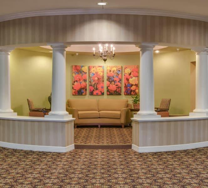 A large lobby area at Town Village in Oklahoma City, Oklahoma