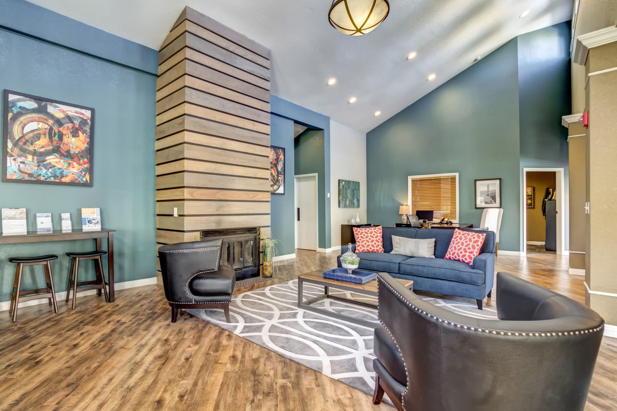 Comfortable seating in the inviting lounge at Serramonte Ridge Apartment Homes in Daly City, California