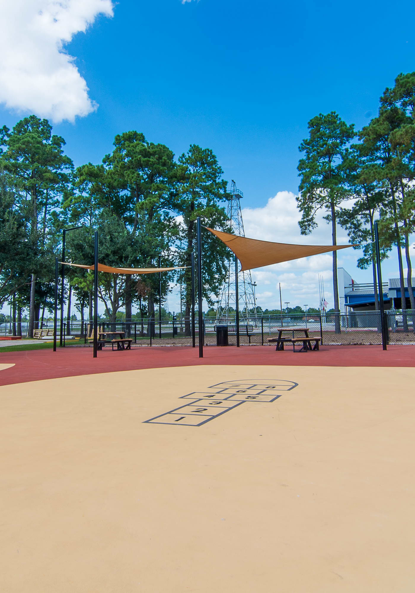 Sports court at Parkside Apartments