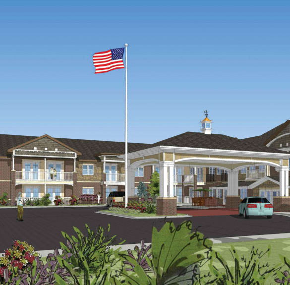 Rendering of Burr Ridge Senior Living