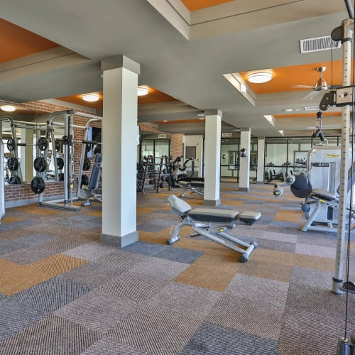Well-equipped onsite fitness center at Olympus Steelyard in Chandler, Arizona