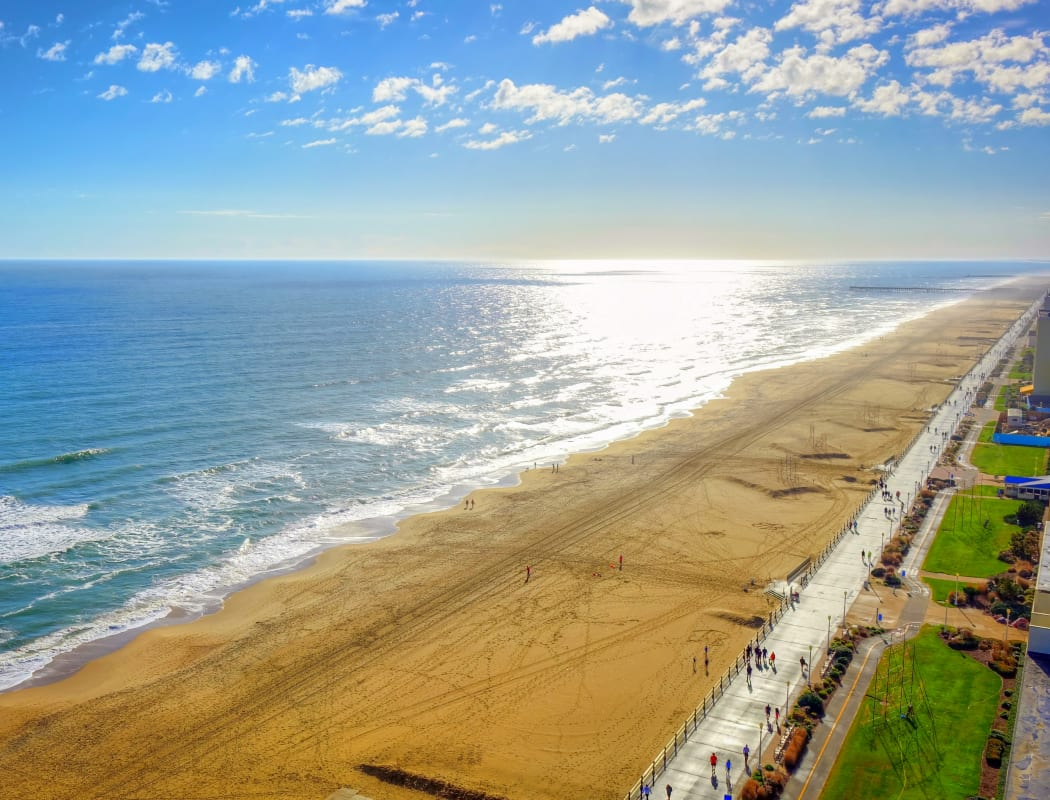Beautiful beach near Indigo 19 in Virginia Beach, Virginia