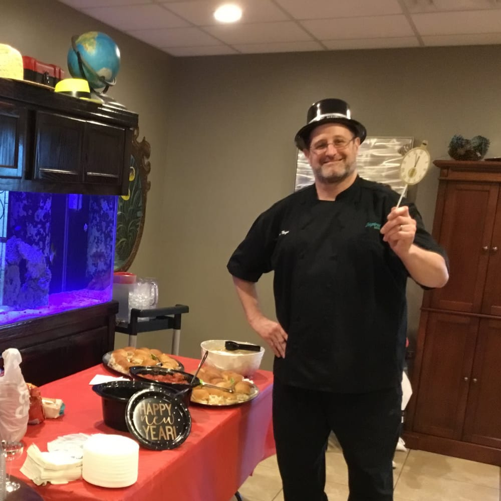 The chef at Inspired Living at Hidden Lakes in Bradenton, Florida