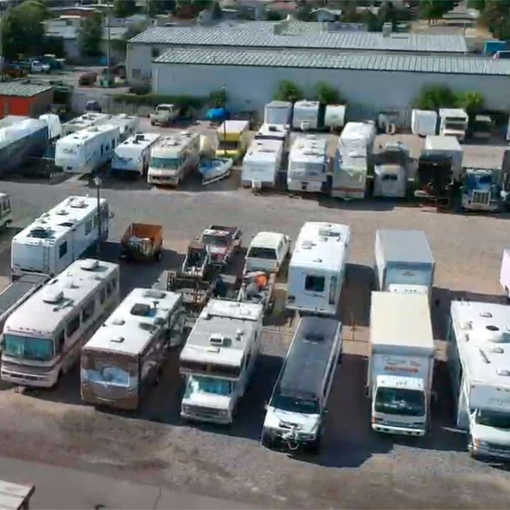 A large RV lot at STOR-N-LOCK Self Storage in Taylorsville, Utah