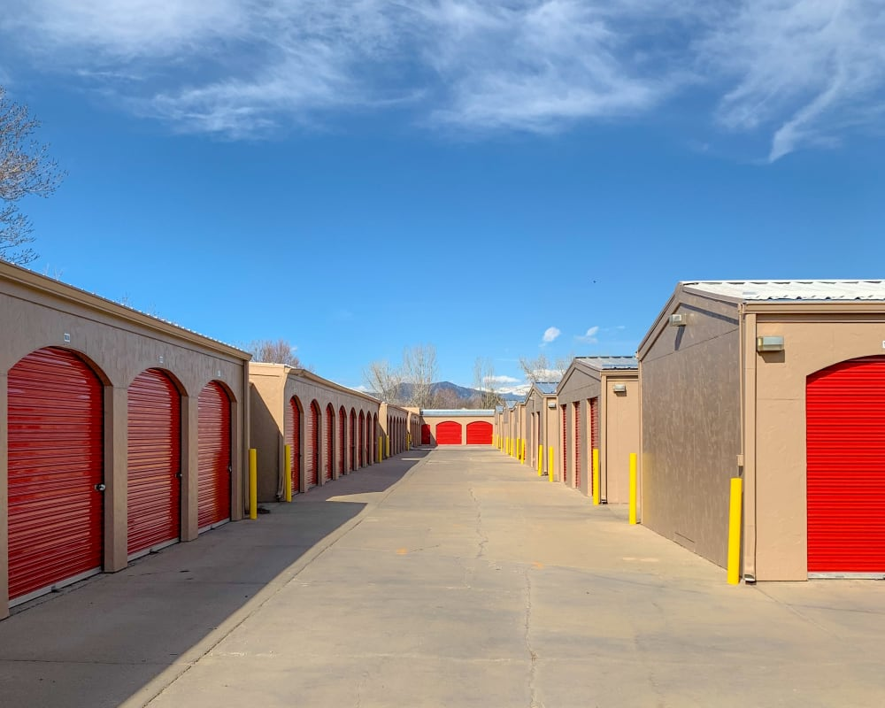 Exterior units at StorQuest Self Storage in Lafayette, CO