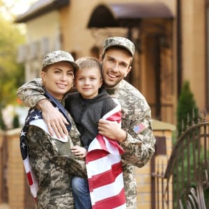 Military family, customrs of A-1 Self Storage in North Hollywood, California