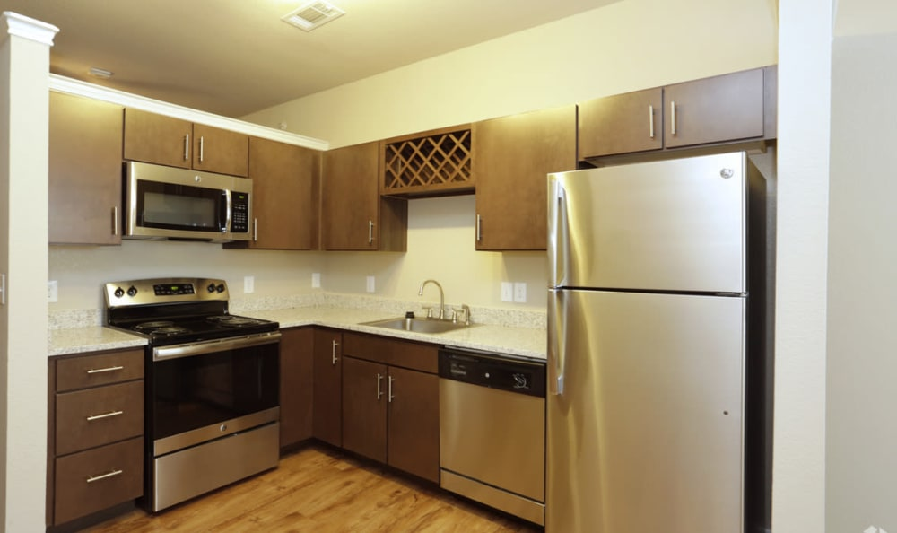 Studio Kitchen Area at Springs at Round Rock