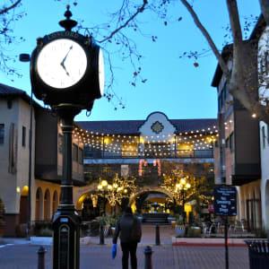 A clock in downtown Concord, California