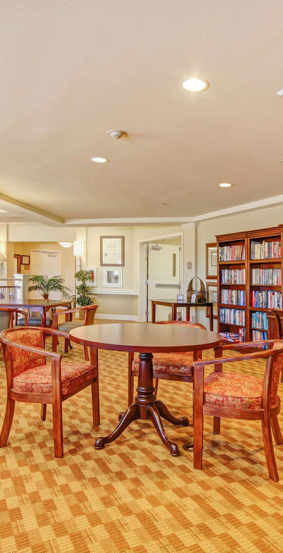 Room for reading at The Commons at Union Ranch in Manteca, California