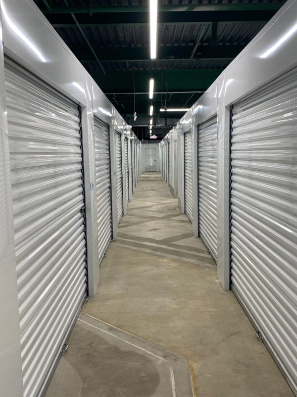 Interior storage units at Devon Self Storage in Cincinnati, Ohio