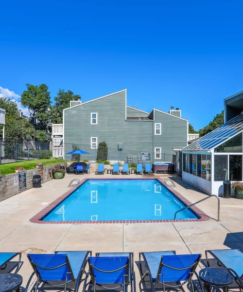 Pool at Bluesky Landing Apartments in Lakewood
