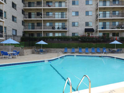 Swimming pool at Kings Park Plaza Apartment Homes in Hyattsville, Maryland