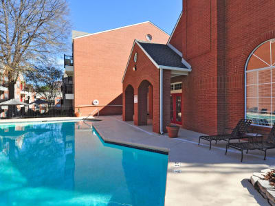 Pool with sundeck at Brookwood Valley in Atlanta