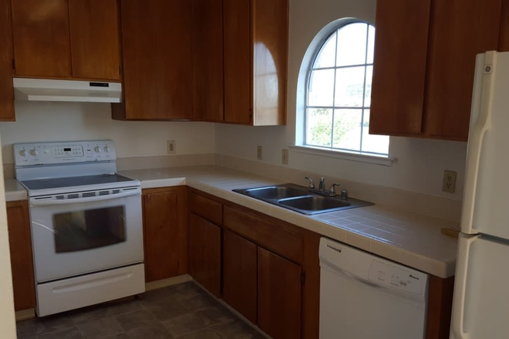 Kitchen at Wyda Garden Apartments in Sacramento, California