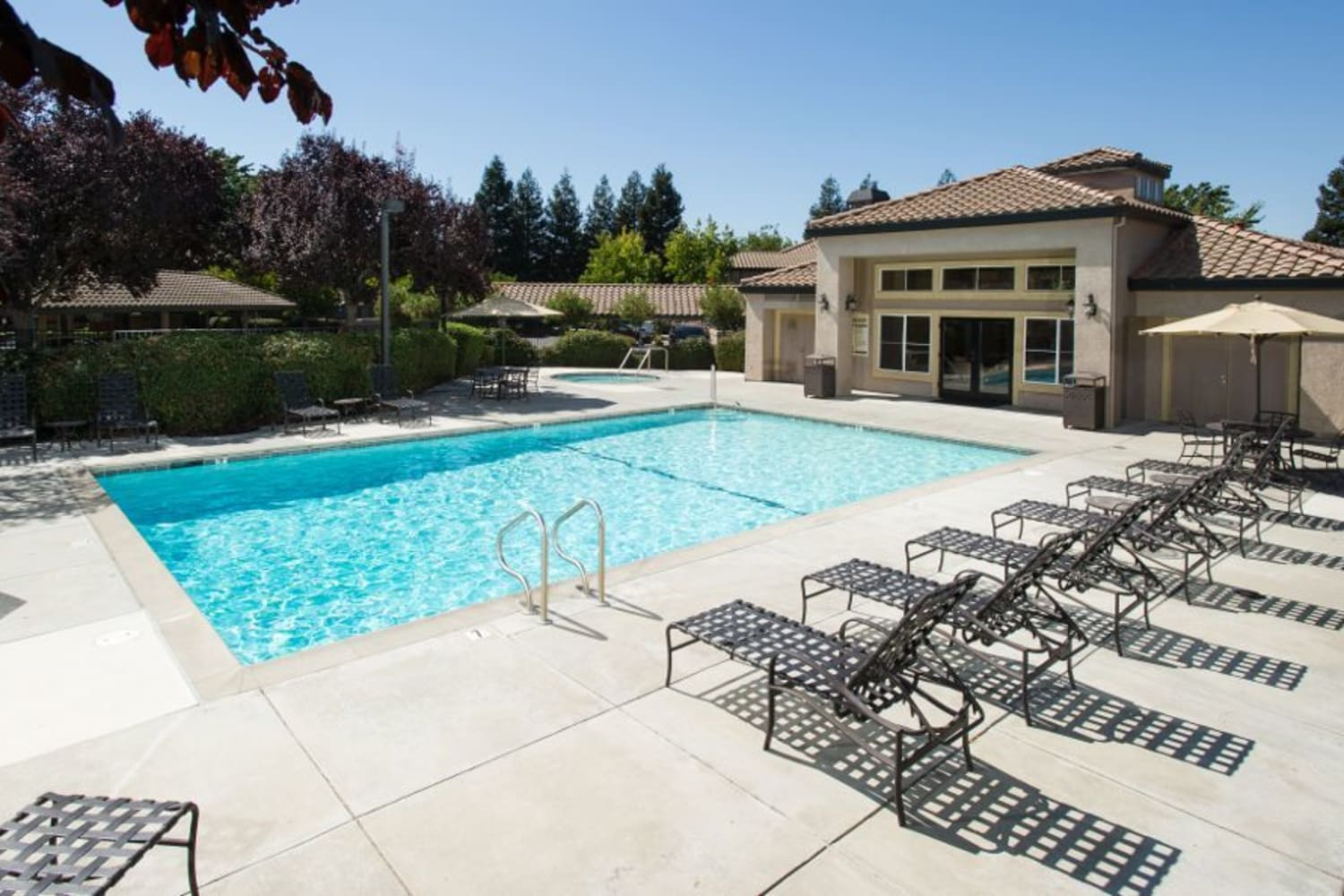 Enjoy apartments with a swimming pool at La Vina Apartments in Livermore, California