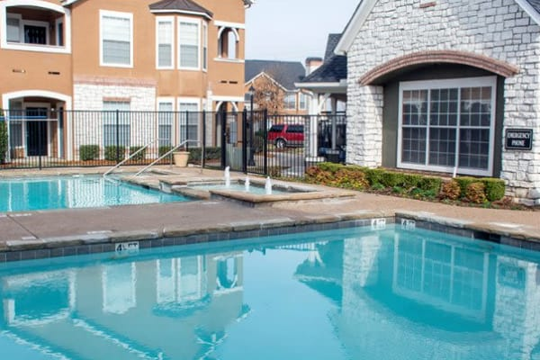 Swimming pool at Stonehaven Villas in Tulsa, Oklahoma