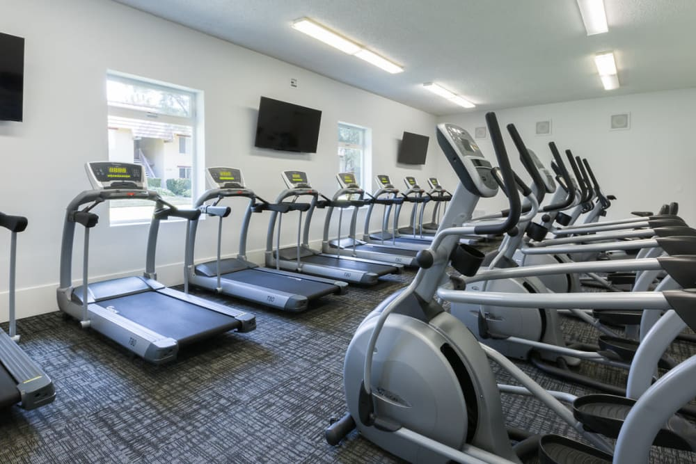 Valley West Apartments offers a fitness center in San Jose, California