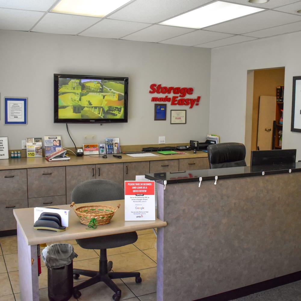 Inside the welcoming office at STOR-N-LOCK Self Storage in Riverdale, Utah