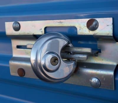 Lock on a self storage unit for rent at Self Storage of Anderson in Cincinnati, Ohio