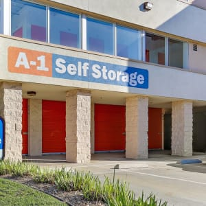 Front of the building at La Habra, California at A-1 Self Storage