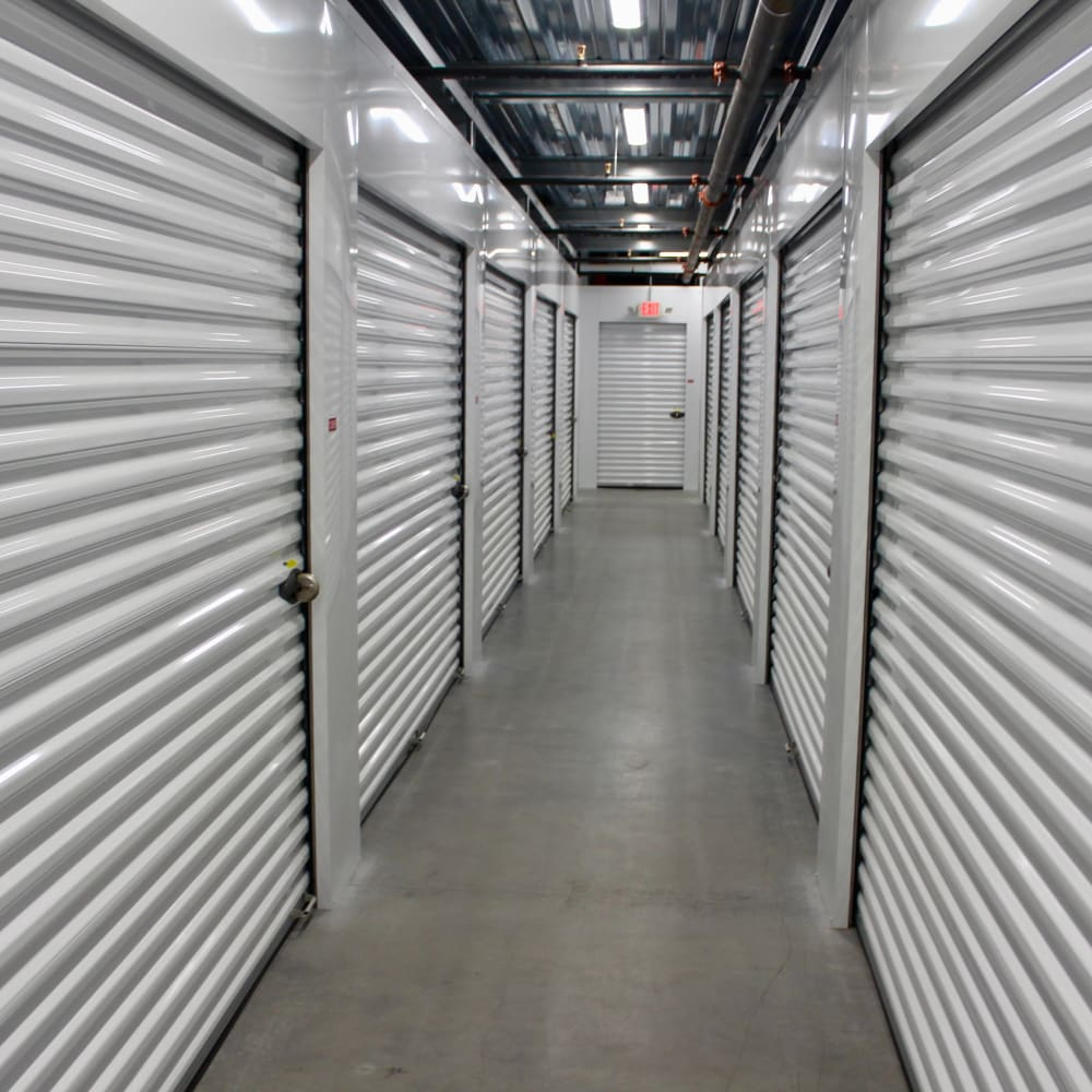 Row of climate controlled units at Global Self Storage in West Henrietta, New York