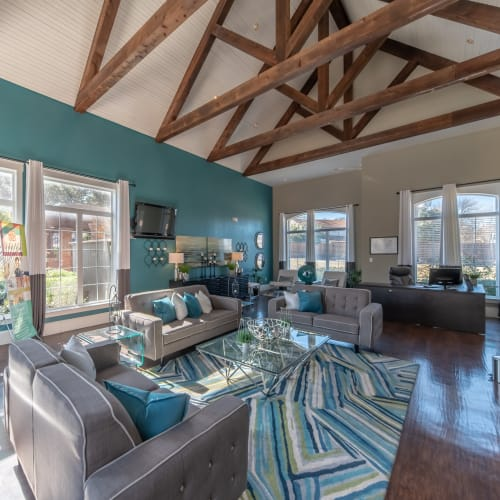 View virtual tour of the clubhouse at Village Green of Bear Creek in Euless, Texas