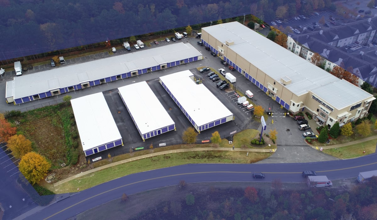 Overhead view at StoreSmart Self-Storage in Columbia, South Carolina