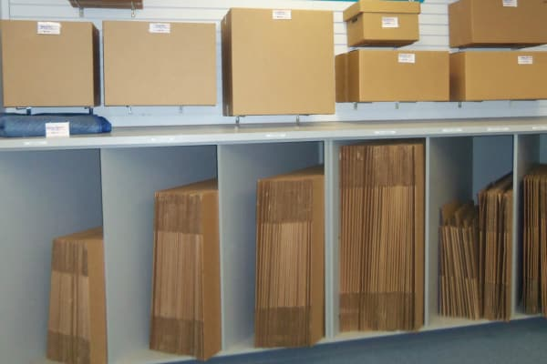 Storage boxes for sale at Self Storage Plus in Walkersville, MD
