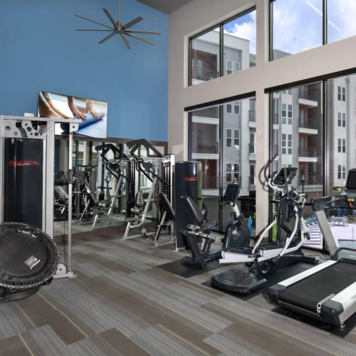 View virtual tour for our Modern 24 Hour Fitness Center Shelby at Northside in Fort Worth, Texas