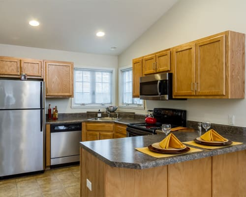 Regency & Victor Villas Apartments in Victor, New York showcase our spacious kitchen