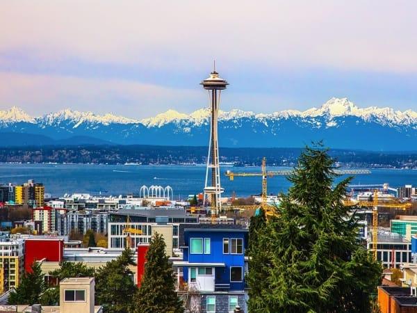 View the neighborhood near The Lyric in Seattle, Washington