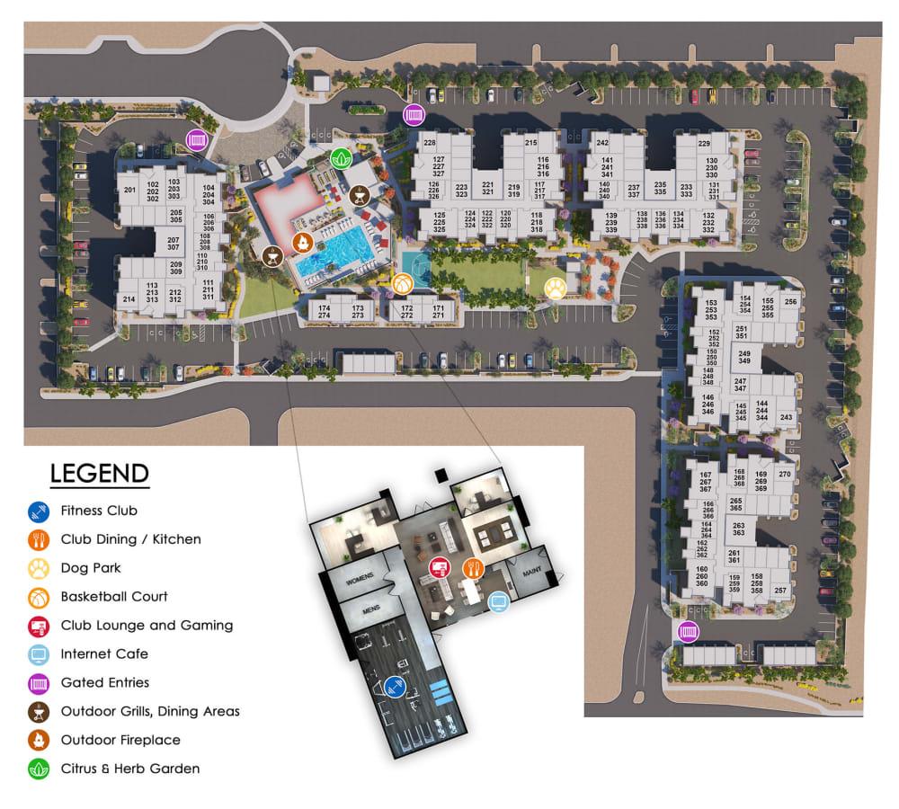 Villa Vita Apartments site plan