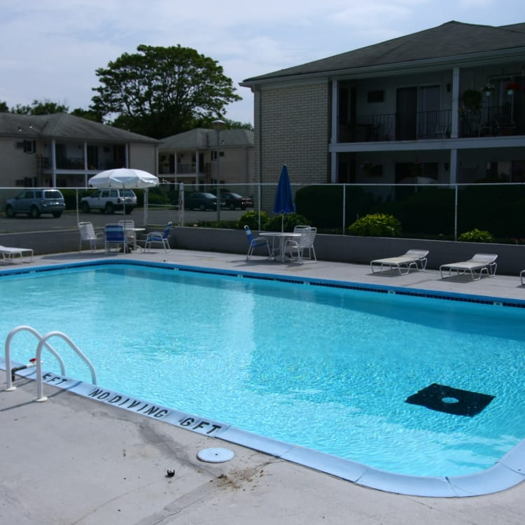 Unique swimming pool at apartments in Spring Lake, New Jersey