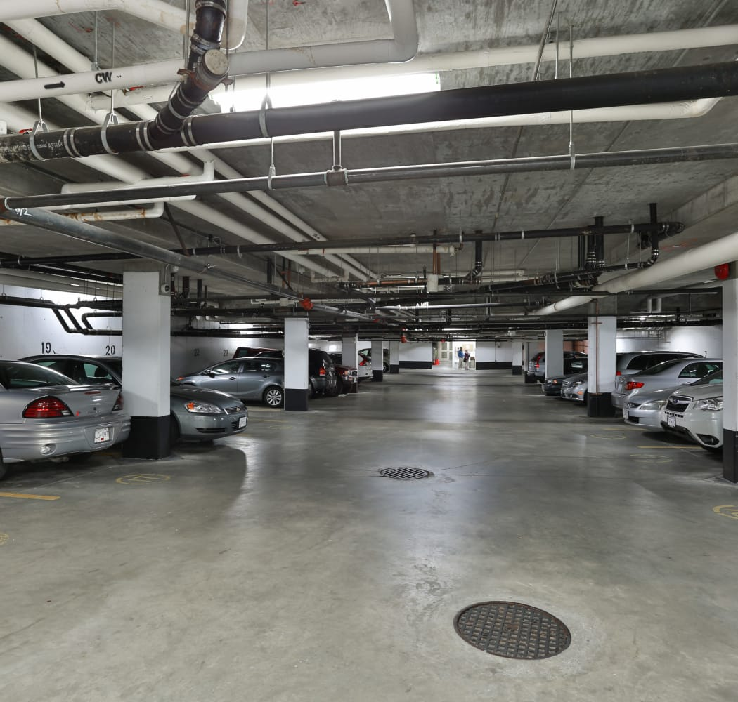 Larchway Gardens offers an underground parking area in Vancouver, British Columbia