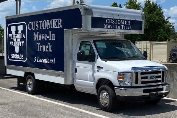 Free moving truck at Virginia Varsity Storage in Christiansburg, Virginia