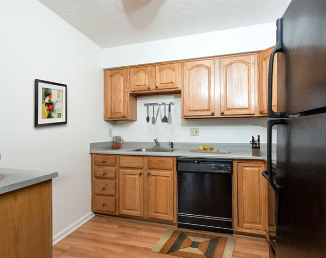 Kitchen at Brighton Colony Townhomes in Rochester, New York