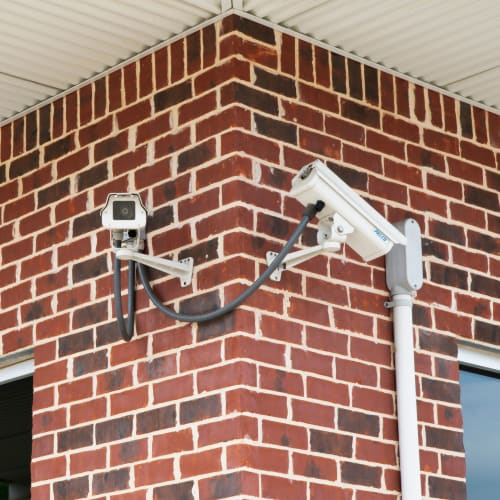 Security cameras at Red Dot Storage in Lee's Summit, Missouri