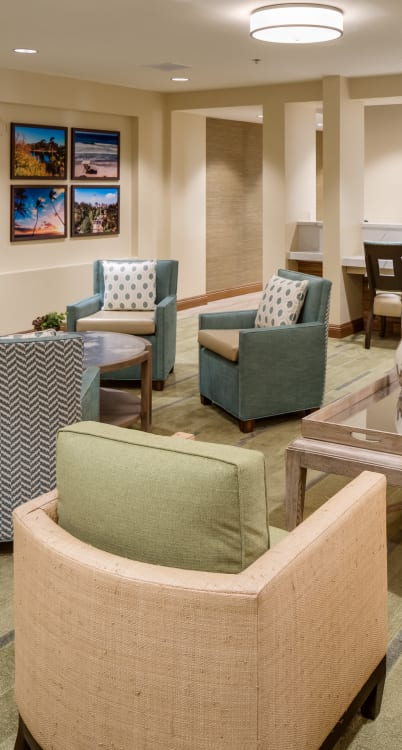 Common area at The Montera in La Mesa, California